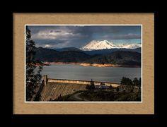 Shasta Dam Framed Print featuring the photograph The Three Shasta's by Marnie Patchett