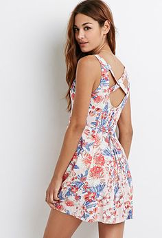 Tropical Floral Print Dress | Forever 21 - 2049259015