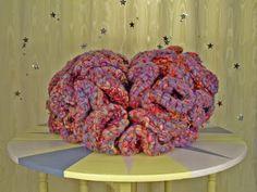 Brain by Kate Fenker Textile Art, Brain, Weird, Knitting, Ethnic Recipes, Fun, The Brain, Tricot, Breien