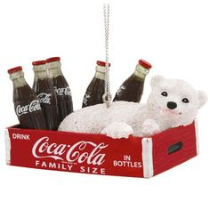 Kurt Adler Coca-Cola Polar Bear Cub In Crate With Bottles Ornament Christmas Items, Vintage Christmas, Coca Cola Polar Bear, Coca Cola Christmas, Always Coca Cola, World Of Coca Cola, Coca Cola Bottles, Diet Coke, Merry Christmas And Happy New Year