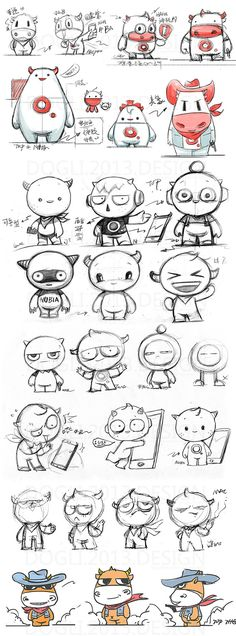how to draw anime Character Sketches, Character Design References, Character Drawing, Character Illustration, Character Concept, Cute Monster Illustration, 2d Character, Doodle Art, Mascot Design