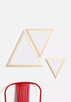 These triangular mirrors are on point, if we say so ourselves. Arrange them together as a wall feature or dot them around your space. Superbalist has made these mirrors just for you, so you won't find them anywhere else. Triangle Mirror, Your Space, Decorative Accessories, New Homes, Dots, Just For You, Nature, Triangles, Mirrors
