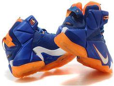 new styles 7baee d87b3 Lebron 12 Royal Blue Orange0 Nike Lebron, Blue Orange, Blue And White, Cheap