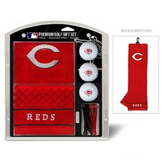 Make big time golfer Marty Brennaman proud by sporting this Cincinnati Reds Golf Gift Set. $26.99