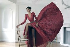 Dreaming red dress #couture