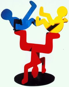Keith Haring Untitled, 1986 Painted Aluminum Sculpture 40 x 33 x 23 inches. | Follow #KeithHaring on Pinterest curated by Joseph K. Levene Fine Art, Ltd. | #JKLFA | http://pinterest.com/jklfa/keith-haring/