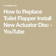 How to Replace Toilet Flapper Install New Actuator Disc- Stop Toilet From Running