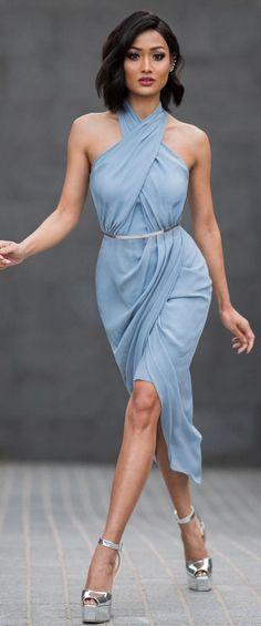 cool С чем носить шикарное голубое платье? (50 фото) — Длинные и короткие модели Читай больше http://avrorra.com/goluboe-plate-foto/