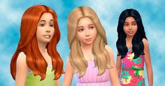 I love seeing the little girls with long hair , so I converted this hair for them . Available in default textures and all colors. I...