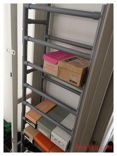pvc shoe rack - Google Search                                                                                                                                                                                 More