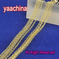 """Free Shipping 24Hours 10X 18""""  18K Yellow Gold Filled Chains Necklaces ROLO Word """"O"""" Link Chain Necklace With Lobster Clasp"""
