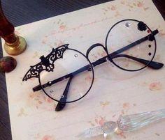 Black Lolita Gothic Style Glasses – Fashion Trends To Try In 2019 Kawaii Fashion, Lolita Fashion, Gothic Fashion, Dark Fashion, Steampunk Fashion, Minimalist Fashion, Fashion Fashion, Korean Fashion, Fashion Ideas
