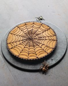*Pumpkin Chocolate Spiderweb Tart