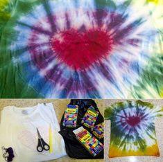 Como pintar una camiseta Hippie de corazn | Manualidades Infantiles