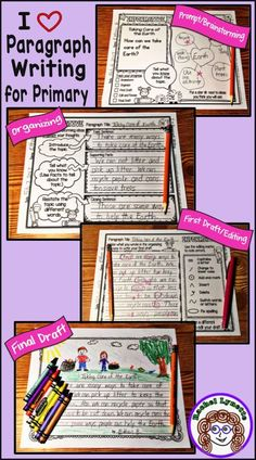 From engaging writing prompt to final draft, here is a step-by-step process to help your students write opinion, informative, and narrative paragraphs. Perfect for Paragraph of the Week. Especially for first and second grade! Kindergarten Writing, Kids Writing, Teaching Writing, Writing Activities, Literacy, Writing Ideas, Elementary Teaching, Teaching Ideas, Writing Strategies