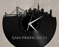 Rare Vinyl Records, Arts & Vintage Music Accessories https://www.etsy.com/shop/VinylShopUS #wall clock, clock, Wall Art, Vinyl art, art collectibles, handmade, repurpused.