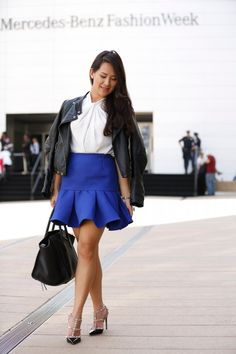 Blue Ruffles at NYFW | lifestyle