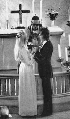.Agnetha and Bjorn from ABBA wedding photo. 6th July 1971 Untill their marriage ended in 1982.
