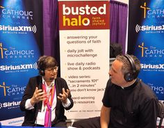 "Sr. Helen Prejean, a great advocate for an end to the death penalty, speaks with Paulist Fr. Dave Dwyer during a live broadcast of ""The Busted Halo Show"" at the 2016 Los Angeles Religious Education Congress."
