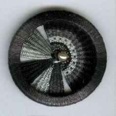 Knopf Shop ∞ Knöpfe ∞ Zw701 Zwirnknopf, 100% Baumwolle, waschbar bis 40ø, Handarbeit schwarz