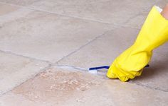 How to Clean Tile Floor Grout Like The Home Flooring Pros Grout Stain, Sealing Grout, Clean Tile Grout, Cleaning Ceramic Tiles, Cleaning Tile Floors, Ceramic Floor Tiles, Porcelain Tile, Ceramic Sink, Wall Tiles