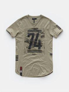 print T-shirt midgreen: