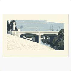 Image of LA River and Hyperion Bridge