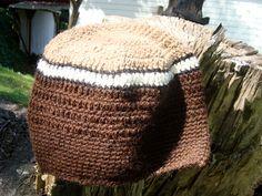 Mens Alpaca Cap Hand Crocheted all Natural by AlpacaFarmBoutique, $36.00