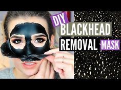 DIY Blackhead Removing PEEL OFF Mask!! (EASY + WORKS) - YouTube