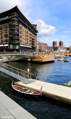 Aker Brygge and Oslo City Hall in Oslo, Norway Norway Sweden Finland, Norway Oslo, Visit Oslo, Visit Norway, Stockholm Shopping, Beautiful Norway, Scandinavian Countries, Beach Trip, Beach Travel