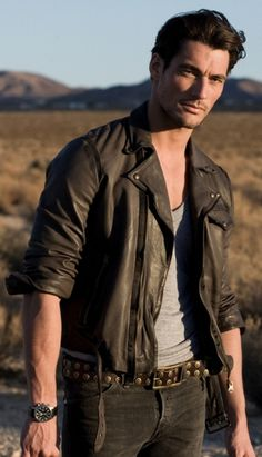 David Gandy is always hot, but even hotter in distressed leather!!!