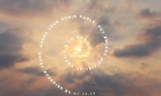"""""""Le Seigneur..enlevé au ciel..s'assit à la droite de Dieu"""". Marc 16: 15-20"""