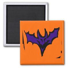 Purple Halloween Bat Magnet - Halloween happyhalloween festival party holiday