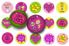 Check out this item in my Etsy shop https://www.etsy.com/listing/65777920/girl-power-bff-digital-collage-sheet-1