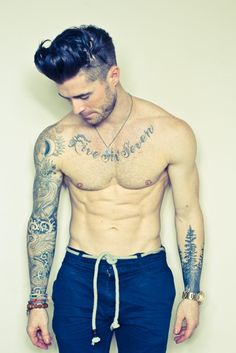 Hungry for more amazing hotties with tattoos... 'Like' us at www.facebook.com/filthygmen