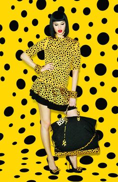 yeah you know what it is... black & yellow, black and yellow, black and yellow, black and yellow..... (Wiz Khalifa) this 'Louis Vuitton – Yayoi Kusama' is one bad ass stunner!