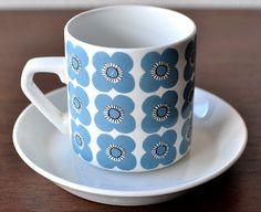 Arabia, Veera, Esteri Tomula Kitchenware, Tableware, Ceramic Design, Vintage Pottery, Vintage China, Mug Cup, Food Plating, My Coffee, Ceramic Pottery