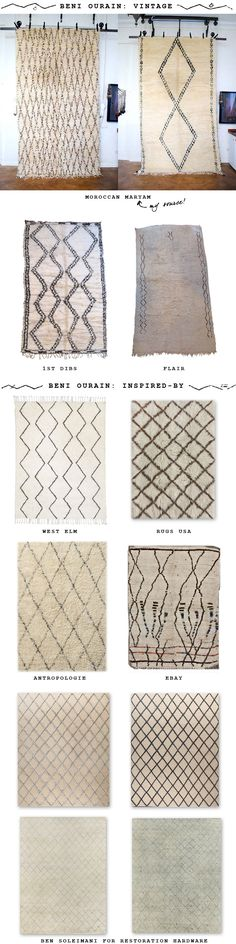 Design Under the Influence: Beni Ourain Rugs Paint Colors For Living Room, Rugs In Living Room, Decoration Inspiration, Bedroom Inspiration, Tadelakt, Diy Apartment Decor, Textiles, Interior Paint Colors, Tribal Rug