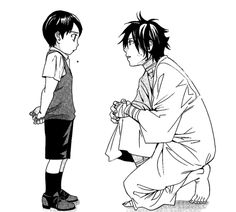Yato and little Ebisu | Noragami