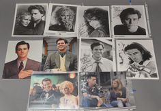 Group of 19 photographs, 13 are autographed including 2 Dyan Cannon, 3 Glenn Close, 1 Antonio Banderas, 7 Jim Carey (1 with COA), and 6 unsigned photographs including 5 Jim Carey and 1 Antonio Banderas