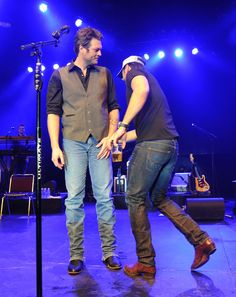 Bromance!  Luke Bryan and Blake Shelton