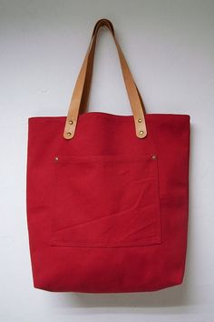 canvas + leather tote