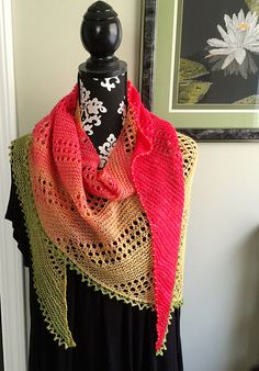 "Ravelry: ""Layla"" Beaded Shawl pattern by O/C Knitiot Designs - Deby Lake"