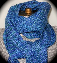 Blue Lace Tencel Handwoven Scarf by LuCook #handweaversofetsy #mothersday #giftideas