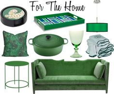 emerald decor & items for the home