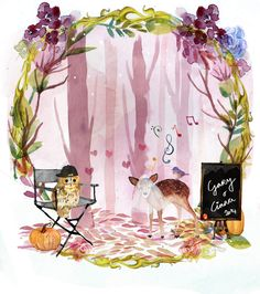 Close up of the forest scene. Thats Gary there as an owl director and Ciara as a beautiful singing deer