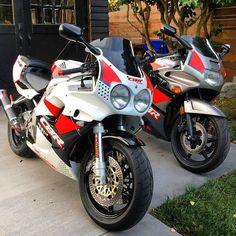Honda CBR600F and CBR900RR from @ryaneverson Thanks!  #motorcycle #honda #cbr #cbr600f #cbr900rr #fireblade #retroracers