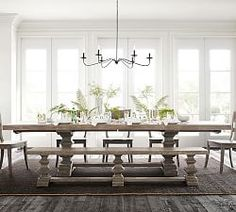Banks Extending Rectangular Dining Table, Large, Alfresco Brown finish at Pottery Barn – Dining Furniture – Kitchen Tables – Hazir Site Plywood Furniture, Dining Room Furniture, Dining Chairs, Dining Table Bench Seat, Dark Furniture, Patio Chairs, Office Chairs, Lounge Chairs, Cheap Furniture