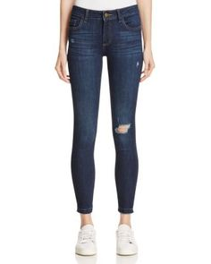 Woven from curve-contouring stretch-denim, Warp & Weft's love-worn skinny jeans are artfully distressed for a broken-in look and a comfy feel. | Cotton/ProModal®/elasterell-p/elastane | Machine wash |