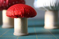 DIY: mushroom pincushion